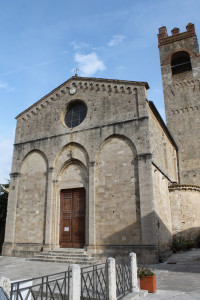 The 11th-century Romanesque Basilica of Saint Agatha and its 13th-century bell tower.