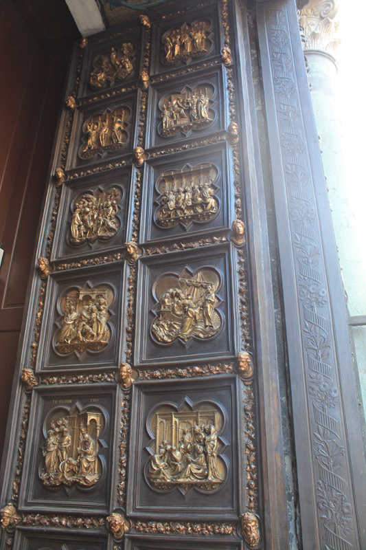 The North Doors by Lorenzo Ghiberti at the beginning of his career (1402-1425) with scenes from The New Testament. & brunelleschi \u2013 Italianissimo