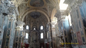 Inside the beautiful Cathedral of Bressanone